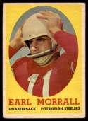 1958 Topps #57 Earl Morrall VG Very Good