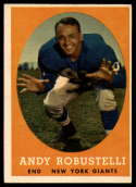 1958 Topps #15 Andy Robustelli EX Excellent