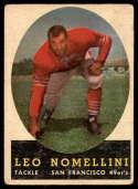 1958 Topps #89 Leo Nomellini G/VG Good/Very Good