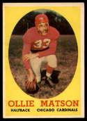 1958 Topps #127 Ollie Matson VG/EX Very Good/Excellent