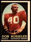 1958 Topps #132 Don Bosseler VG Very Good RC Rookie