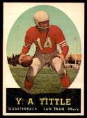 1958 Topps #86 Y.A. Tittle EX++ Excellent++