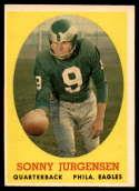 1958 Topps #90 Sonny Jurgensen EX/NM RC Rookie