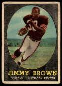1958 Topps #62 Jim Brown G Good RC Rookie