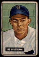 1951 Bowman #45 Art Houtteman G/VG Good/Very Good