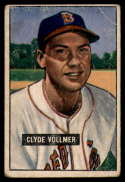 1951 Bowman #91 Clyde Vollmer VG Very Good