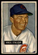 1951 Bowman #108 Virgil Stallcup VG/EX Very Good/Excellent