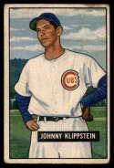 1951 Bowman #248 Johnny Klippstein VG Very Good RC Rookie