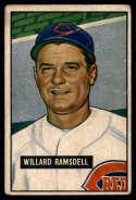 1951 Bowman #251 Willard Ramsdell VG Very Good RC Rookie