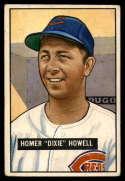 1951 Bowman #252 Homer Howell VG Very Good RC Rookie