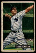 1951 Bowman #74 Billy Johnson G Good