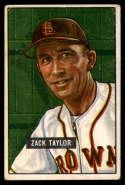 1951 Bowman #315 Zack Taylor MG VG Very Good