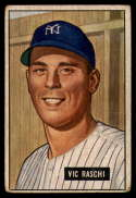 1951 Bowman #25 Vic Raschi VG Very Good