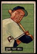 1951 Bowman #40 Dave Bell G/VG Good/Very Good RC Rookie