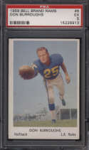 1959 Bell Brand Los Angeles Rams #6 Don Burroughs PSA 5