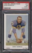 1959 Bell Brand Los Angeles Rams #17 John Morrow PSA 7 mc