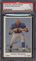 1959 Bell Brand Los Angeles Rams #30 Charley Bradshaw PSA 5