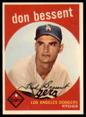 1959 Topps #71 Don Bessent EX/NM