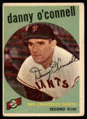 1959 Topps #87 Danny O'Connell G/VG Good/Very Good