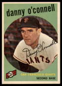 1959 Topps #87 Danny O'Connell VG/EX Very Good/Excellent