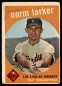 1959 Topps #107 Norm Larker mark RC Rookie