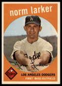 1959 Topps #107 Norm Larker EX Excellent RC Rookie