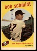 1959 Topps #109 Bob Schmidt VG Very Good