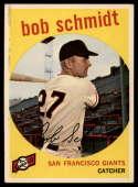 1959 Topps #109 Bob Schmidt EX Excellent