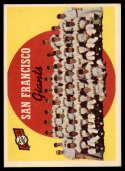 1959 Topps #69 Giants Checklist 89-176 mark
