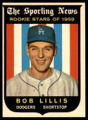1959 Topps #133 Bob Lillis VG/EX Very Good/Excellent Gray back RC Rookie