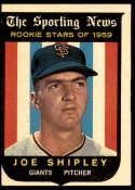1959 Topps #141 Joe Shipley VG Very Good Gray back RC Rookie