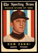 1959 Topps #145 Dom Zanni VG/EX Very Good/Excellent Gray back RC Rookie