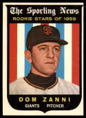 1959 Topps #145 Dom Zanni EX Excellent Gray back RC Rookie
