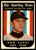 1959 Topps #145 Dom Zanni EX/NM Gray back RC Rookie