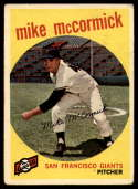 1959 Topps #148 Mike McCormick VG Very Good Gray back
