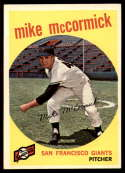 1959 Topps #148 Mike McCormick EX/NM Gray back