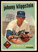 1959 Topps #152 Johnny Klippstein UER EX/NM Gray back