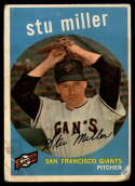 1959 Topps #183 Stu Miller G Good Gray back