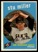 1959 Topps #183 Stu Miller EX Excellent Gray back