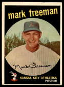 1959 Topps #532 Mark Freeman VG/EX Very Good/Excellent RC Rookie