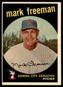 1959 Topps #532 Mark Freeman EX Excellent print error RC Rookie