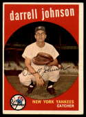 1959 Topps #533 Darrell Johnson EX Excellent