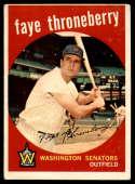 1959 Topps #534 Faye Throneberry VG Very Good