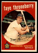 1959 Topps #534 Faye Throneberry VG/EX Very Good/Excellent