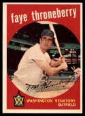 1959 Topps #534 Faye Throneberry EX/NM