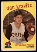 1959 Topps #536 Danny Kravitz VG Very Good