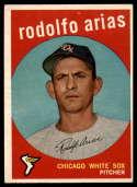 1959 Topps #537 Rodolfo Arias EX Excellent RC Rookie
