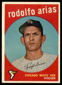 1959 Topps #537 Rodolfo Arias VG Very Good RC Rookie