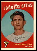 1959 Topps #537 Rodolfo Arias VG/EX Very Good/Excellent RC Rookie