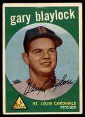 1959 Topps #539 Gary Blaylock mark RC Rookie